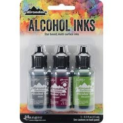 Ranger Adirondack Alcohol Ink .5 Ounce 3/Pkg Cottage Path Slate/Currant/Meadow AAI-20714