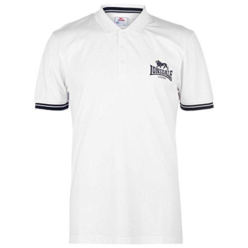 Lonsdale Mens 2 Stripe Jersey Polo Shirt
