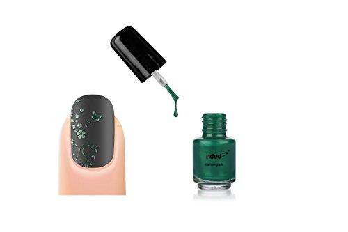 Stamping-Lack Farbe grün Smaragd Nail Art-nded-5ml-ref8979 -
