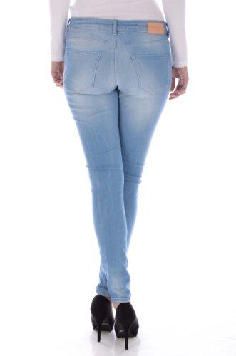 Maison Scotch Damen Jeans + Gefällt mir! Sticker Blau