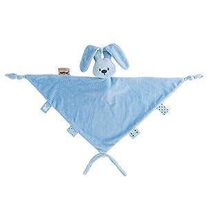 Nattou Gran Doudou de Conejo Lapidou, Compañero desde el nacimiento, 65 x 40 cm, Azul vaquero