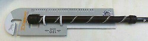 Döbert Dressurgerte mit Ledergriff Lederschlag Zwei Reihen Strass 110 cm Gerte Dunkelbraun