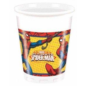 echer Kunststoff Ultimate Spider Man Power, 200ml, 8Stück, rot/blau/gelb (Gelbe Spiderman)