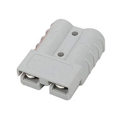 Dyda6 Anderson-Stecker-Batterieanschluss 600V 50A 50Amp Batterie Schnelle Verbindung Steckverbinder Hochstrom-Stromanschluss (1 Stück x Stecker, 2 Stück x Terminals)(Gray) Gray Terminal