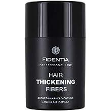 Fidentia Hair - Fibras Capilares para disimular la caída de cabello, 10g Castaño Oscuro -