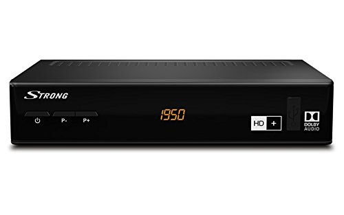 taler HD Satelliten Receiver - HD+ Paket über Smartkarteneinschub inklusive HD+ Karte für 6 Monate [DVBS2, HDMI, SCART, USB, digitaler Koaxialausgang, FULL HD SAT-Receiver für HD plus] - schwarz (Hdmi Sat-receiver)
