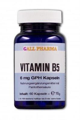 Gall Pharma Vitamin B5 6 mg GPH Kapseln, 1750 Stück, 1er Pack (1 x 1750 Stück)