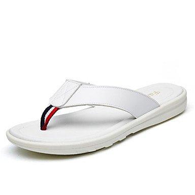 Slippers & amp da uomo;Pelle Primavera Estate Comfort Light Soles esterna Camminare casuale piatto Lui sandali US9.5 / EU42 / UK8.5 / CN43