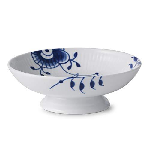 Royal Copenhagen Blue Fluted Mega Bowl on Foot 6cm Fluted Bowl