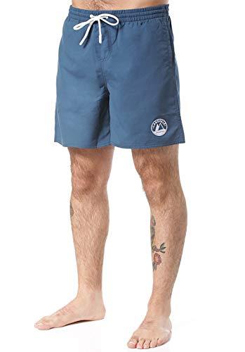 Lakeville Mountain Herren Badeshorts AWASA Unifarben | Regular Fit|Badehose schnell trocknendes Material, Boardshorts| Blau, L