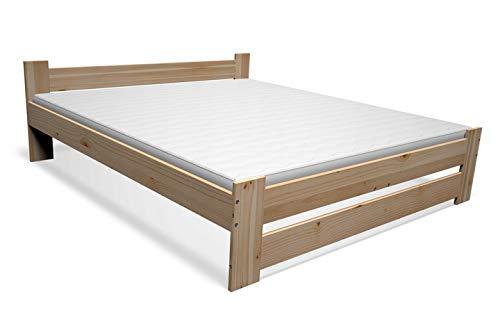 Best For You Doppelbett Futonbett Seniorenbett erhöhtes Bett aus 100{0febfa6796e78885d14beb68337d9913413806cb713033c6dd49ffe7691ef129} Naturholz mit Matratze und Lattenrost viele Größen (90x200 cm)