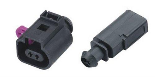 Preisvergleich Produktbild cnkf 5Sets Bosch 1,5mm 2Pin Männlich Weiblich Wasserdicht Sensor Auto Anschluss für VW AUDI 1j0973702/1j0973802