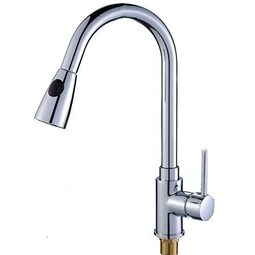 Preisvergleich Produktbild 360° Drehbar Wasserhahn Küche Armatur Chrom Küchenarmatur Waschbeckenarmatur Spültischarmatur Mischbatterie Für Küche