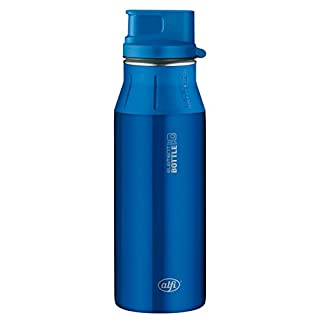 Alfi 5377121060 Trinkflasche Element Edelstahl, (0,6 Liter) pure blau