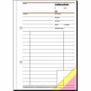 Sigel Formularbuch Lieferschein A5 selbstdurchschreibend VE=3x40 Blatt