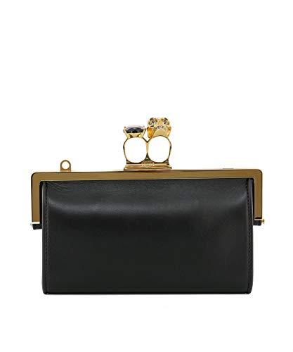 Alexander McQueen, Borsa baguette donna Nero Nero Formato un formato di marca