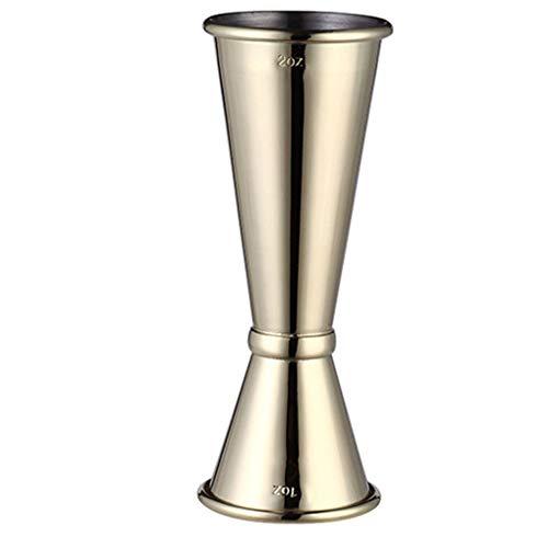 Hanxin Edelstahl Double Shaker Cup Geräte messen, Trinkbecher Messen 30ml / 60ml Bar Jigger Liquo Messwerkzeug Küchen Trinkbecher Gadgets -