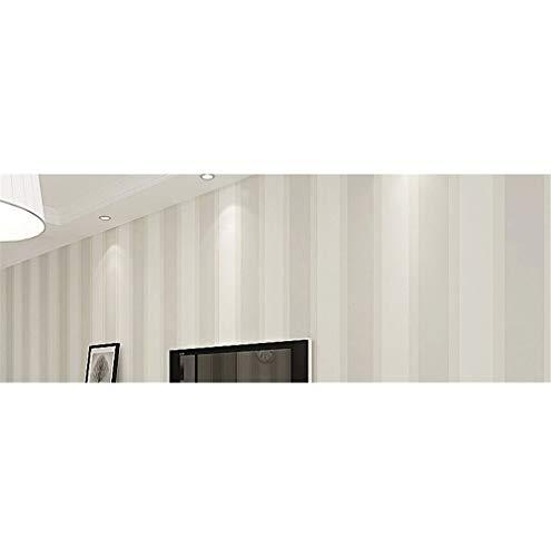 Carta da parati a righe larga non tessuta ecologica moderna della carta da parati della camera da letto minimalista moderna della parete della TV beige,53 X 1000CM(21in X 394in)