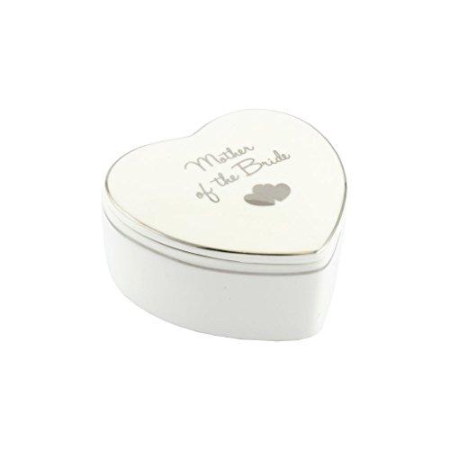 Blanc et Coeur en porcelaine Fine Boîte à bijoux-mère de la mariée Cadeau