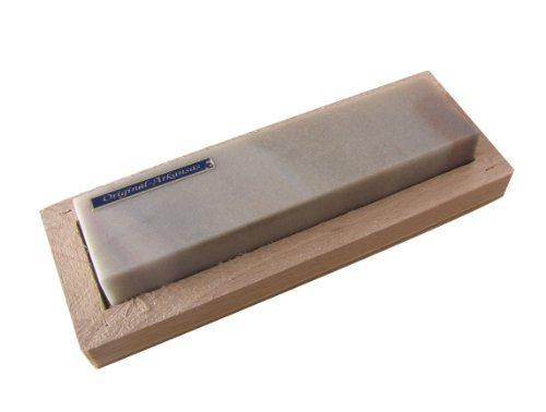 Abziehstein Hart Arkansas 100x25mm in Holzbox 120x45mm (Klinge Arkansas)