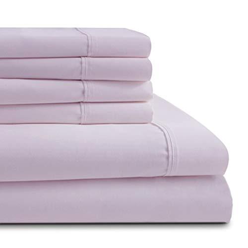 Honeymoon Bettlaken-Set für Zuhause, Doppel-Mikrofaser, Hypoallergen, luxuriös King violett