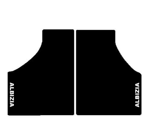 Preisvergleich Produktbild JDM Albesia Fußmatten Schwarz für Minicar, Komplettset in Teppich mit Stickerei Bianco