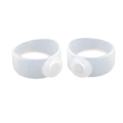 SODIAL (R)2 x Silikon Magnetisch Koerper Zehenring Zehen Ring fuer Abnehmen Schlanke Figur