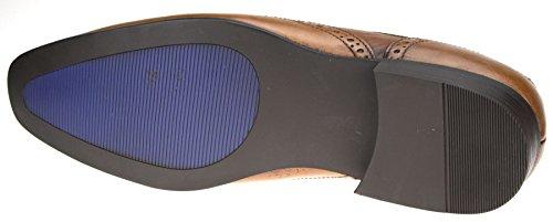 Red Tape Louth Fauve cuir véritable Chaussures richelieu à lacets pour homme 6, 7, 8, 9, 10 11 12 - Marron