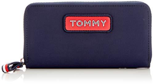Tommy Hilfiger Damen Varsity Nylon Lrg Za Wallet Geldbörse, Blau (Corporate), 2x11x19 cm -