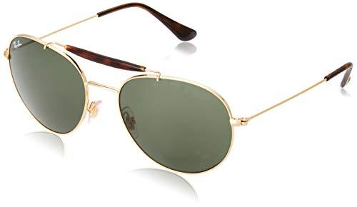 Ray Ban Unisex-Erwachsene Sonnenbrille RB3540 Gestell: Gold,Gläser: grün 001), Large (Herstellergröße: 56)