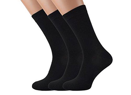 12 Paires Thermique Chaussettes Femmes Bas noir Hiver chaud Gr. 35-42, Noir, 35 - 38