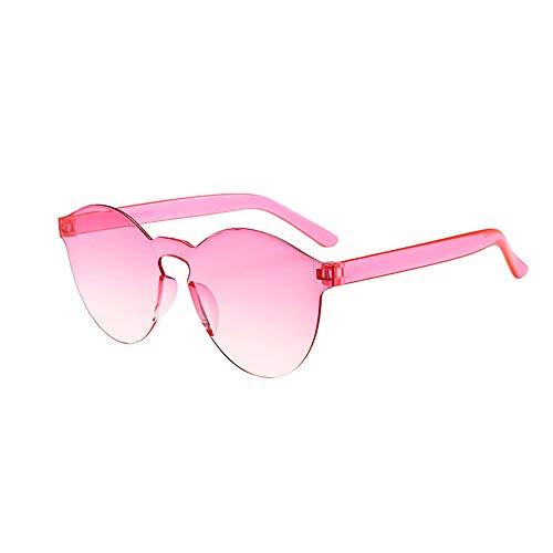 ! Randlose Retro Sonnenbrille für Damen und Herren, Brillen Brillen Brillen Klarglas Candy Farbe Brille (O,One size) ()