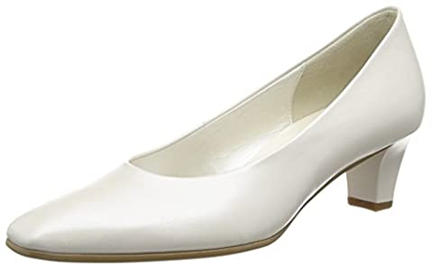 Gabor Competition, Women's Closed-Toe Pumps, Off White (Off White Pearlised Leather), 5 UK (38 EU)