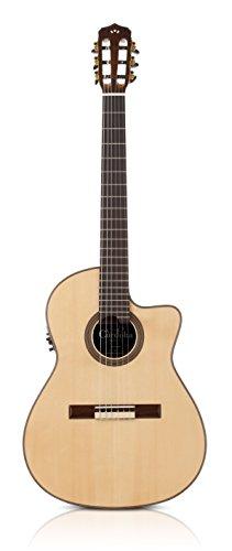 Cordoba 14Maple - Guitarra electroacústica, madera de abeto, color marrón