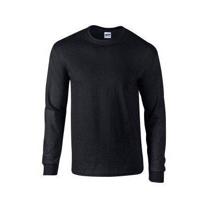 Gildan - maglia manica lunga 100% cotone - uomo (m) (nero)