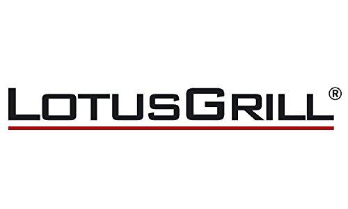 LotusGrill Grillzange Blau! Speziell entwickelt für den raucharmen Holzkohlegrill/Tischgrill