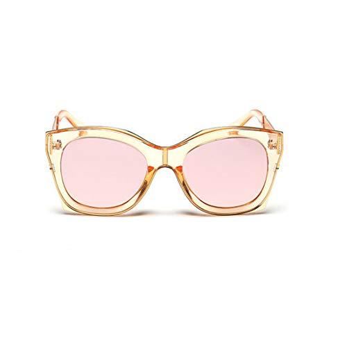 Yiph-Sunglass Sonnenbrillen Mode Übergroße quadratische Form Unisex-UV-Schutz-Sonnenbrille Farbige Linse Fahren im Freien. (Farbe : Rosa)