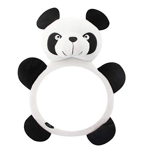 Mentin Miroir Auto Bébé Rétroviseur de Surveillance Bébé pour Siège Arrière Miroir de Voiture pour Bébé en Sécurité,Panda