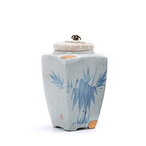 North cool Handgemalte Bambus Tier Gedenkdose Classic Pet Katze Hund Urne Box Malerei Gold Cat Ash Jar (größe : M)