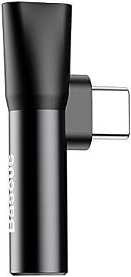 Baseus L41 USB Type C Male to Type-C Female+ 3.5mm Jack Adapter (Black)