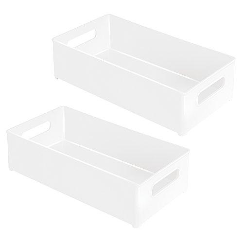 InterDesign Aufbewahrungsbox für Kühlschrank und Gefrierschrank 2-er Packung Medium White/ 2-Pack
