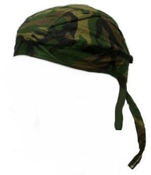 Bandana Camouflage, US Army, festziehbares Band, vorgeformt, Woodland Camouflage, Airsoft, Paintball, Motorrad, Biker, Outdoor Woodland Band