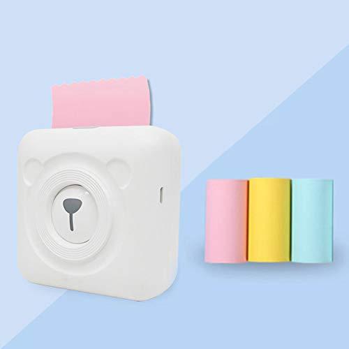Kuizhiren1 Selbstklebender Aufkleber Thermodruck,3 Rollen Selbstklebender Etikettenaufkleber Thermo-Druckpapier-Set für Peripage
