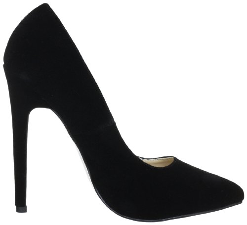 Pleaser Sexy 20, Escarpins femme Noir (Blk Velvet)
