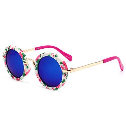 CCGSDJ Polarisierte Vintage Runde Sonnenbrille Kinder Mode Metall Farbverlauf Retro Kinder Sonnenbrille Für Jungen Mädchen Uv400 Säuglings Eyewear