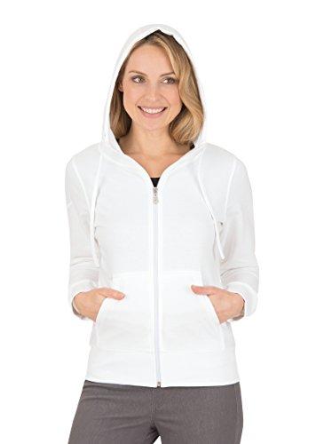 Trigema, Sweat-Shirt àCapuche Femme Blanc