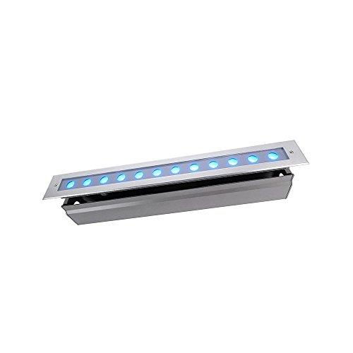 Lampe de sol à encastrer kapegoled Line V RVB, 24 V, 18 W, argent Transparent EEK : B