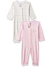 MINI KLUB Baby Girl's Regular fit Romper Suit (Pack of 2)