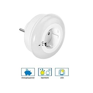 GEV LED-Nachtlicht LIV 6874, Plastik^UV-beständiger Kunsstoff, weiß, 8 x 8 x 7 cm