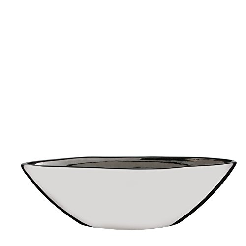 Mica decorations Kyra Übertopf, Keramik, Silber, 40 x 12.5 x 12 cm (Indoor-pflanzgefäße-keramik)